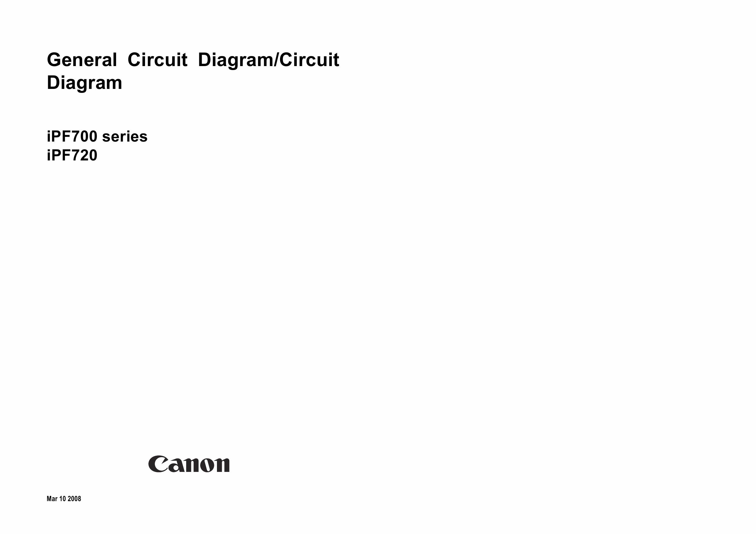 Canon Imageprograf Ipf720 Circuit Diagram